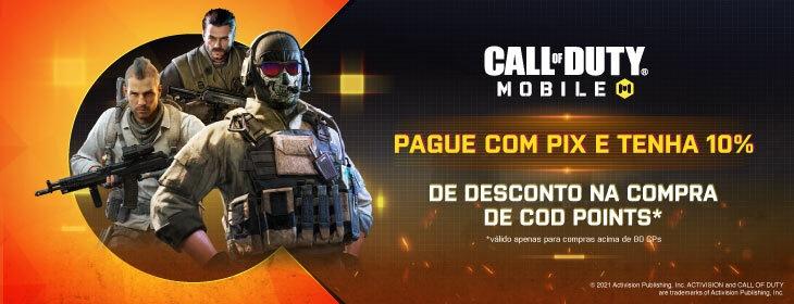 Call of Duty PIX Promo on Codashop Brazil