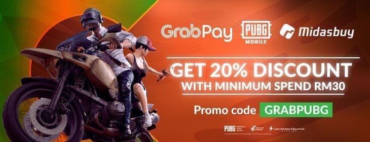 PUBG GrabPay on Codashop Malaysia