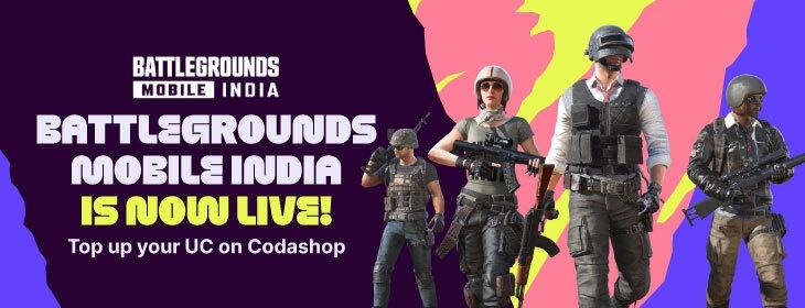 BGMI Launch on Codashop India