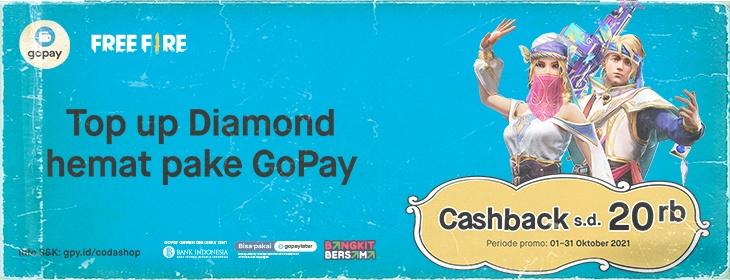 Free Fire Cashback on Codashop Indonesia