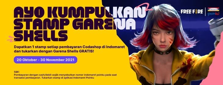 Free Fire Mission Stamp on Codashop Indonesia
