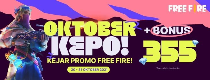 Free Fire October Lucky Draw on Codashop Indonesia