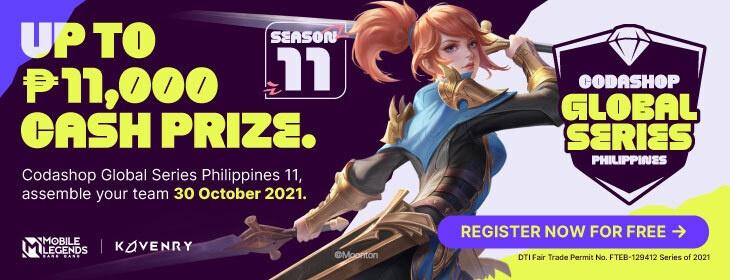 MLBB CGS Season 11 on Codashop Philippines