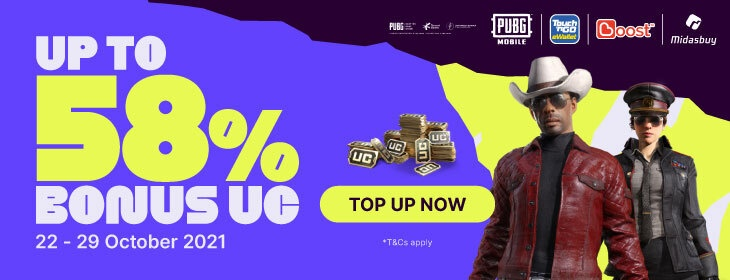 PUBG Bonus UC on Codashop Malaysia