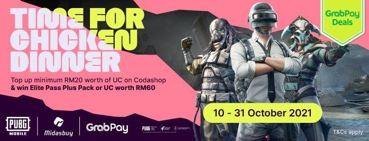 PUBGxMidasbuy on Codashop Malaysia
