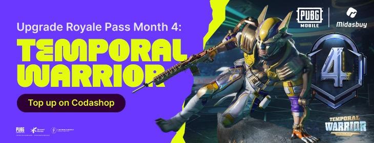 PUBG M Royale Pass Month 4: Temporal Warrior on Codashop Philippines